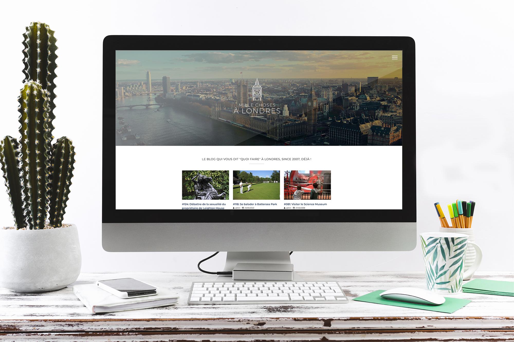 Refonte du site internet de Mille Choses à Londres