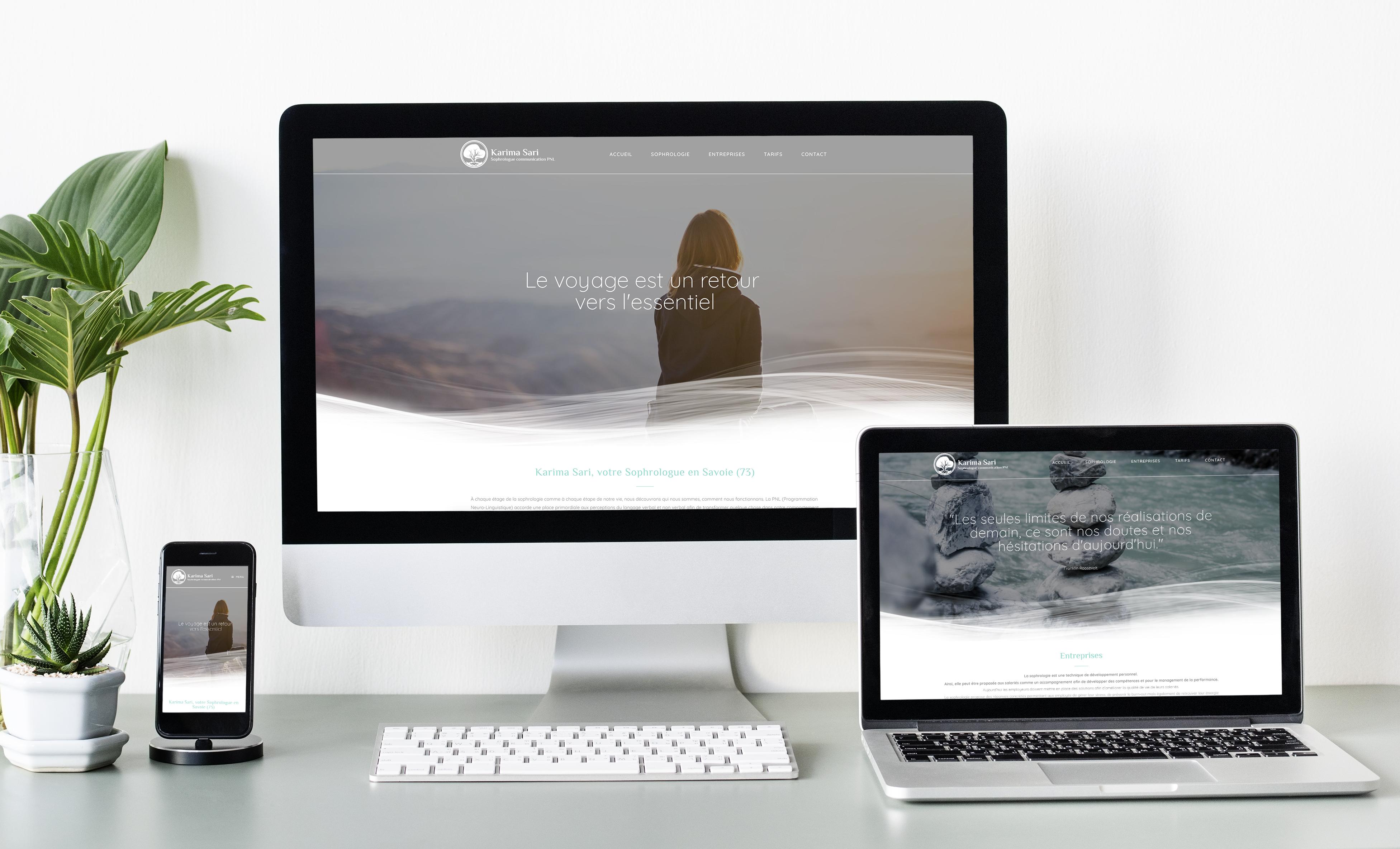 Site internet de Karima Sari Sophrologue à Chambery en Savoie