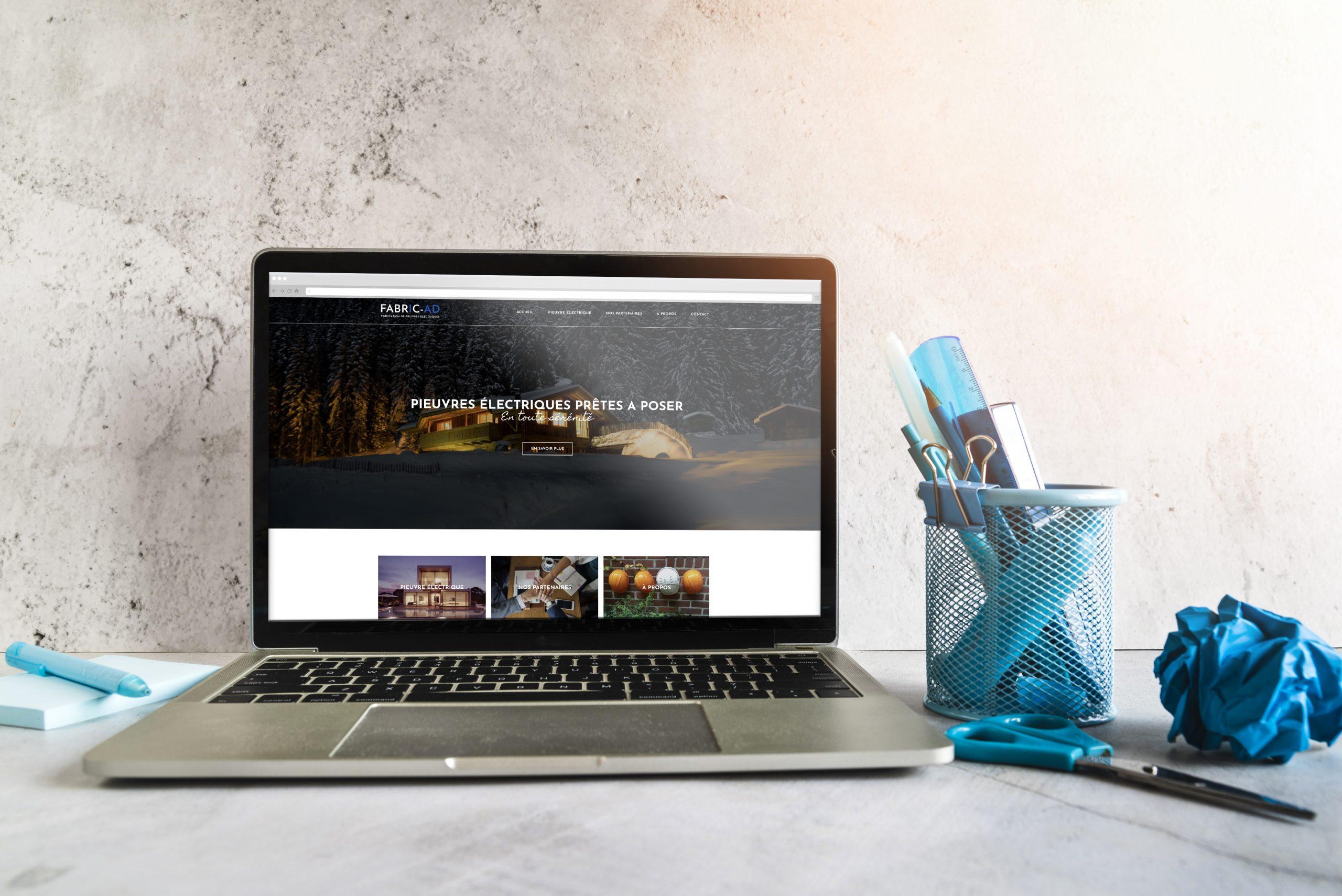 Site internet vitrine réalisé avec le CMS wordpress pour un installateur de pieuvres électriques.