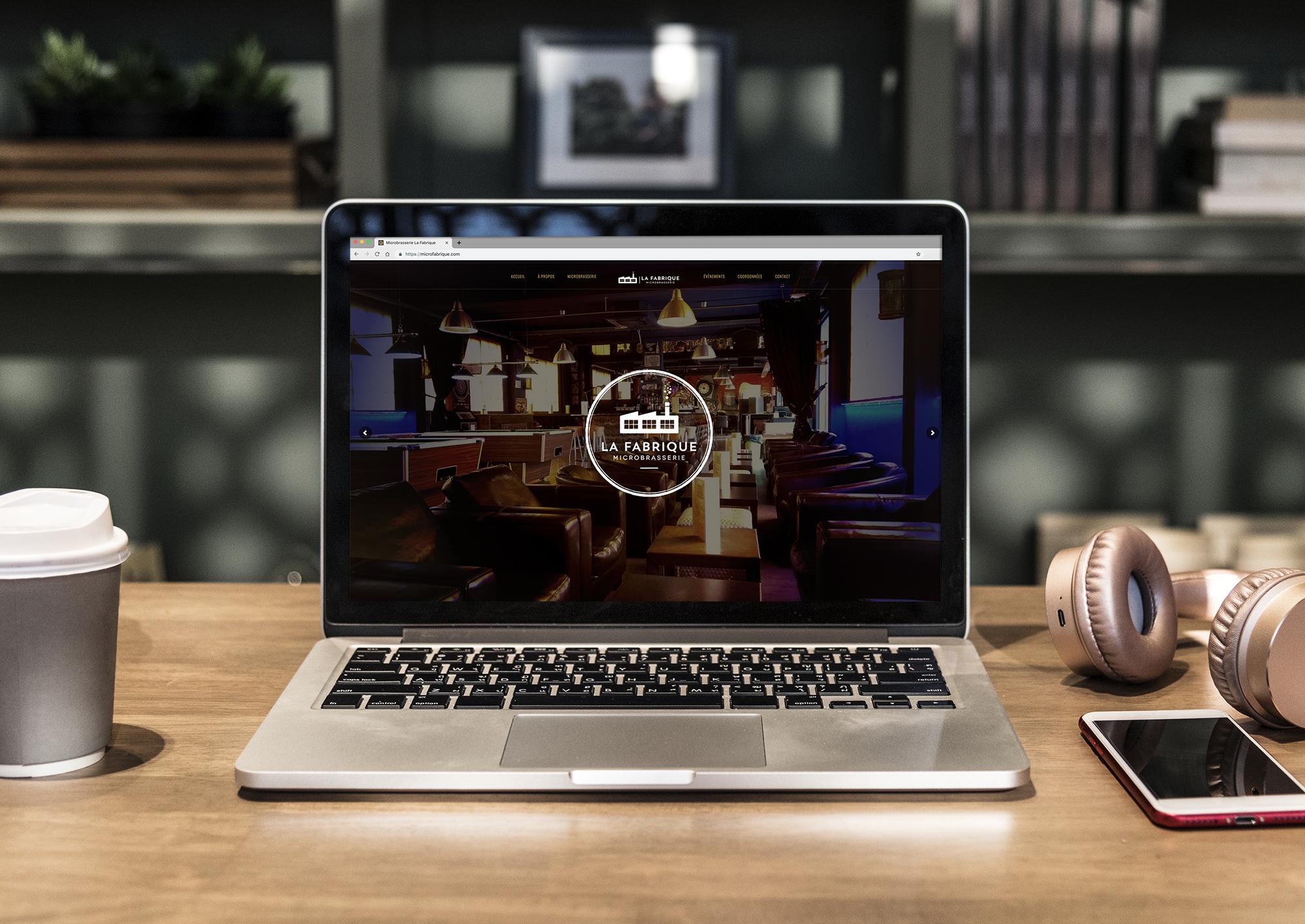 Site vitrine réalisé avec le CMS wordpress pour La Micro brasserie La Fabrique à Amancy en Haute-Savoie.