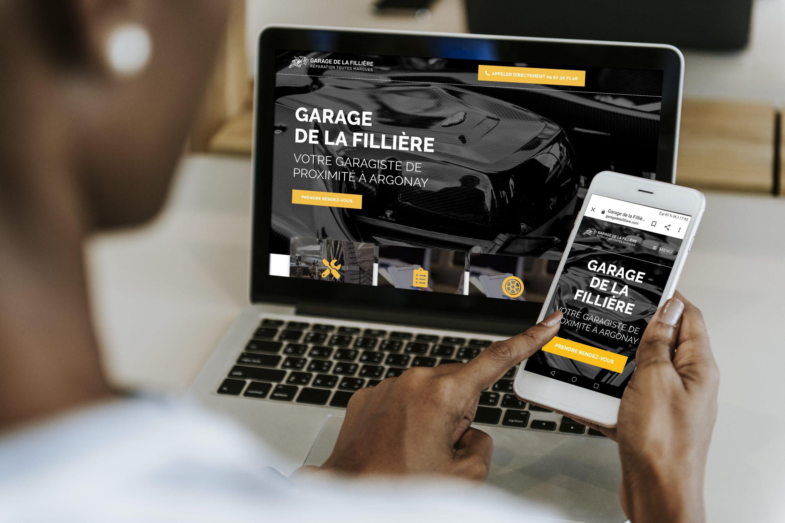 Site internet pour garagiste à Annecy en haute-Savoie