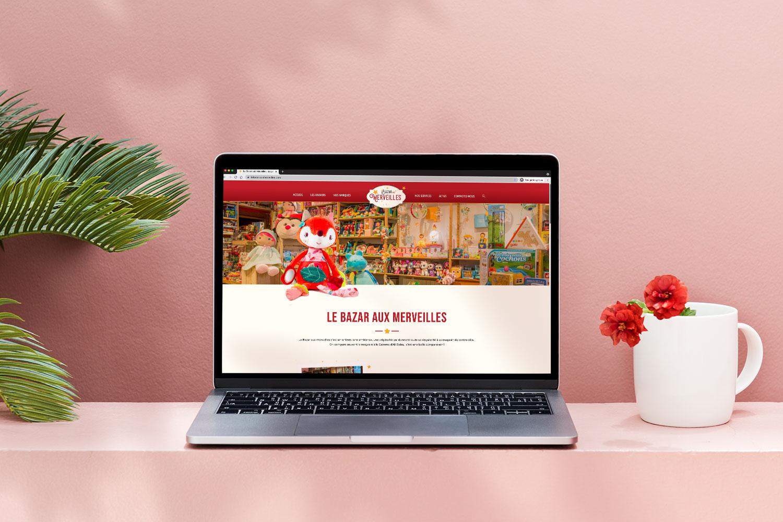 Conception du site web du magasin Le Bazar aux Merveilles à La Roche-sur-Foron